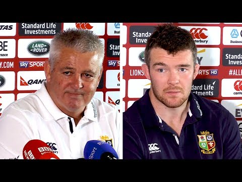 Warren Gatland & Peter O'Mahony Full Pre-Match Press Conference - New Zealand v Lions - First Test