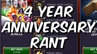 4 Year Anniversary Rant - Stale & Stingy - Marvel Contest Of Champions