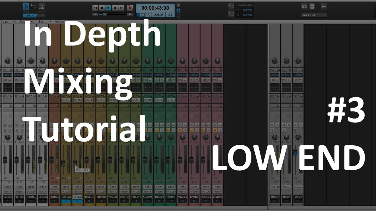In Depth Mixing Tutorial #3   Low End Balance