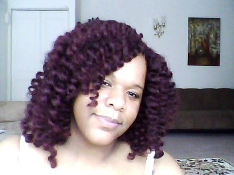 Crochet Hair With Color : ... for Double Strand 12 Latch Hook / Crochet Braid color 99J - YouTube