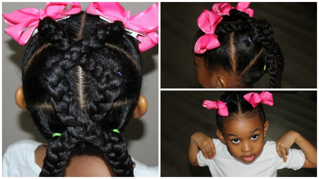 Braided Hairstyle For Kids | Hairstyles for Girls - YouTube