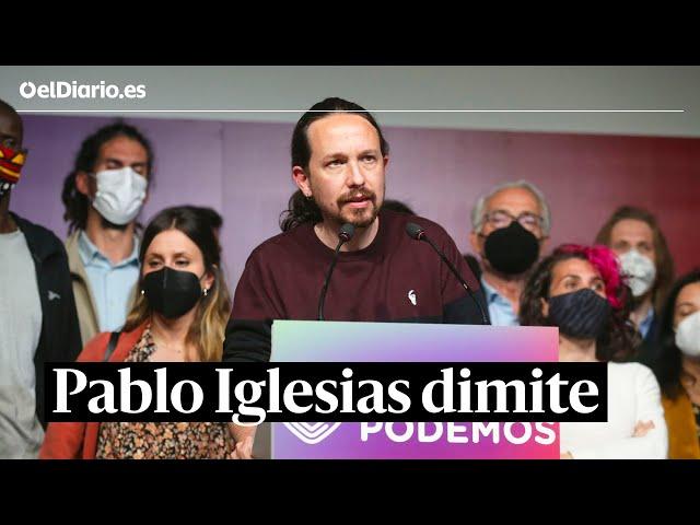Pablo Iglesias dimite: