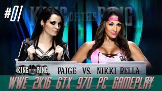 Paige VS Nikki Bella - WWE 2K16 (PC GAMEPLAY) HD