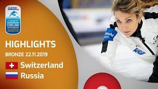 HIGHLIGHTS: Switzerland v Russia – bronze – Le Gruyère AOP European Curling Championships 2019