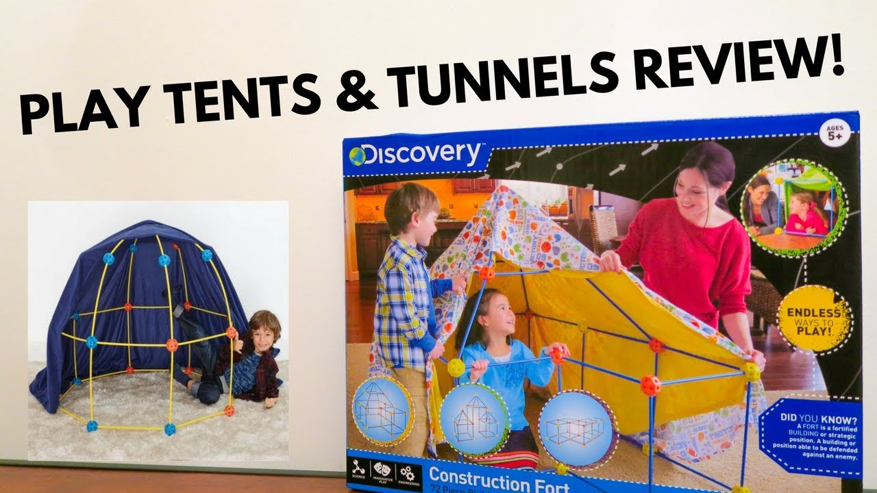 PLAY TENTS u0026 TUNNELS REVIEW! | Construction Fort by Discovery Kids Review & PLAY TENTS u0026 TUNNELS REVIEW! | Construction Fort by Discovery Kids ...