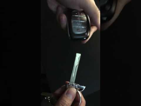 How To Open 2016 Hyundai Sonata Key Fob Youtube