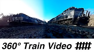 360° Train Video Filmed From Two Angles With Norfolk Southern and Amtrak