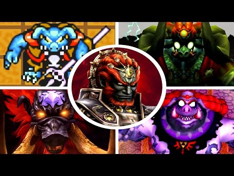 Evolution of Ganon Battles in Zelda Games (1986-2017)
