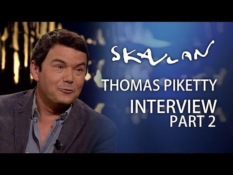 Supereconomist Piketty picks on capitalist Bjørn Kjos | Full interview Part 2 | SVT/NRK/Skavlan
