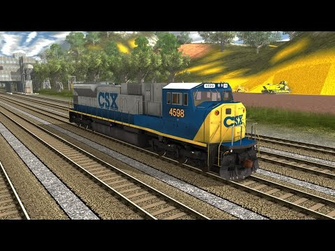 Trainz A New Era [ RRMods Add-On ] - EMD SD80MAC CSX Bright Future (FreeWare) |