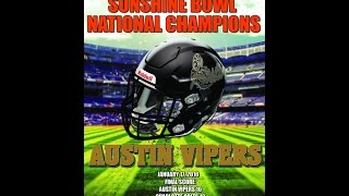 "2015 ""AAA"" Sunshine Bowl National Champion Austin Vipers"