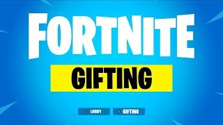 *NEW* GIFTING SYSTEM IN FORTNITE! (Fortnite: Battle Royale) [HOW TO GIFT SKINS]