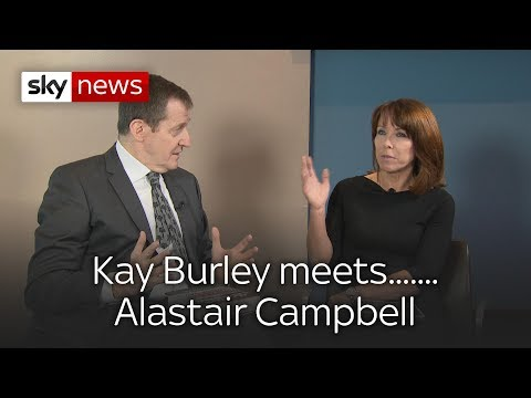 Kay Burley... meets Alastair Campbell