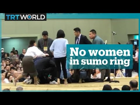 Women ordered out of sumo ring while saving a man's life