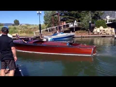 Big Boy Boat fires up at the 2015 South Tahoe Wooden Boat Classic