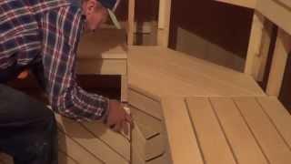 Монтаж полков  в бане  своими руками  . Часть 3 .(Этот ролик обработан в Видеоредакторе YouTube (https://www.youtube.com/editor), 2015-09-11T22:23:15.000Z)