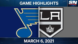 NHL Game Highlights | Blues vs. Kings - Mar. 6, 2021