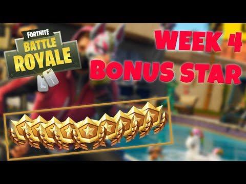WEEK 4 BONUS STAR LOCATION - SEASON 5 (Fortnite Battle Royale)