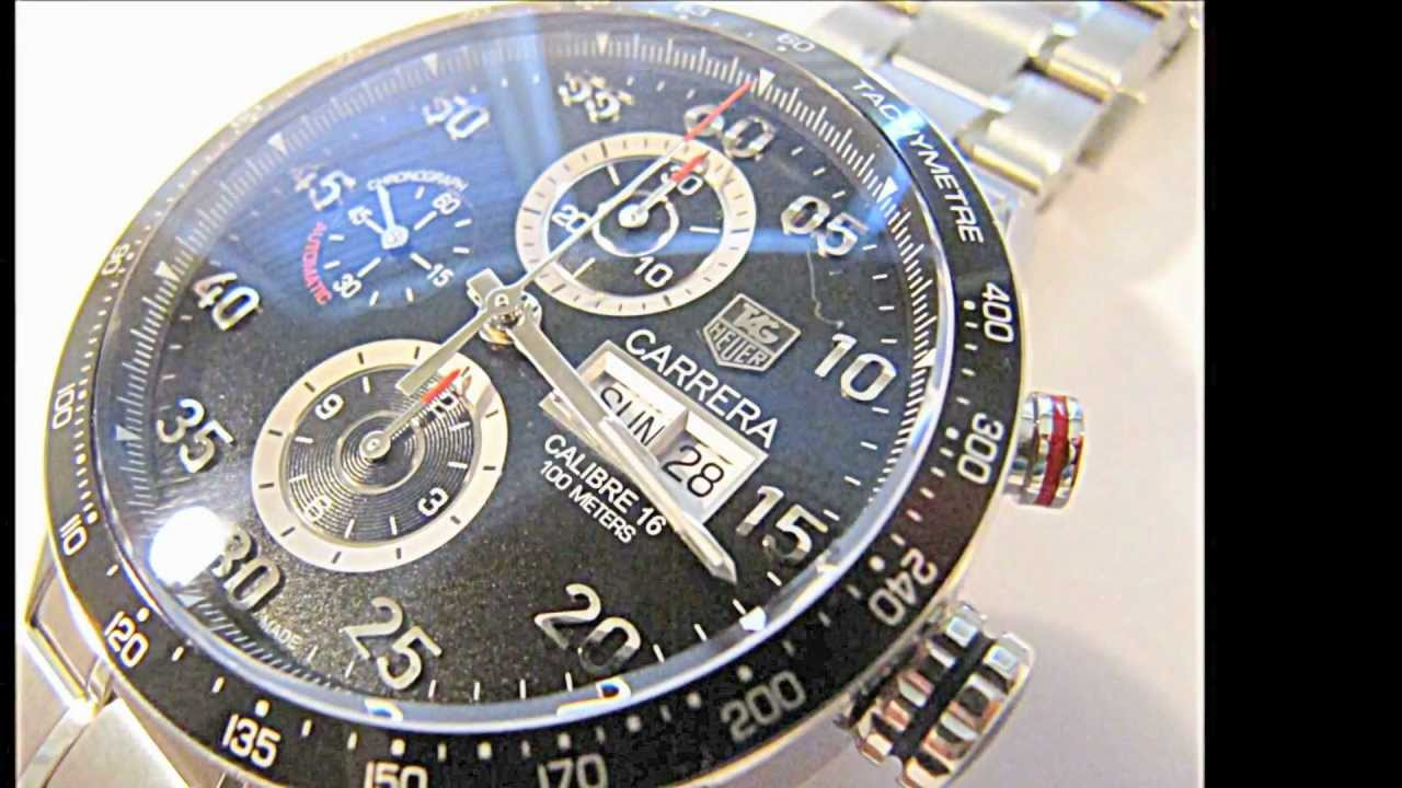 8ed864caf02 Tag Heuer Carrera Calibre 16 Day Date Automatic Chronograph - YouTube