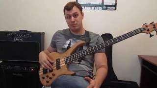 """Уроки игры на бас гитаре. """"Тэппинг"""" Урок № 1 (Основы звукоизвлечения)"""