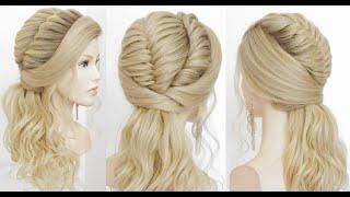 Прически на длинные волосы Низкий хвост с плетением