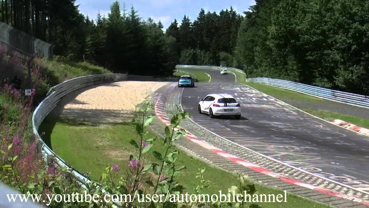 Rent a Race Car Scirocco Crash Unfall Accident Nordschleife Nürburgring  29 07 2012