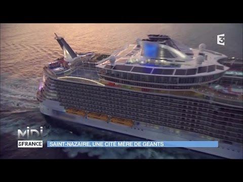 La fabrication du navire Harmony of the Seas à Saint-Nazaire