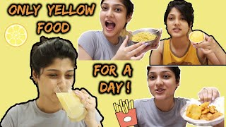 I ate only YELLOW food for 24Hrs challenge | #MoreMau
