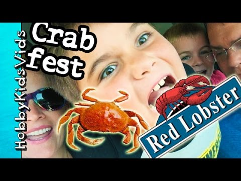 f3935036c8 Red Lobster Dinner! How to Eat Crab + Seafood Review Restaurant  HobbyKidsVids - YouTube