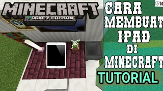Cara membuat iPad di minecraft pe ~ Tutorial Minecraft PE #10