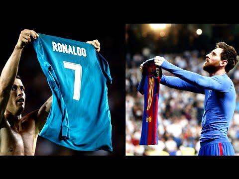 Ronaldo Membalas Selebrasi Angkat Jersey Messi | Ronaldo vs Barcelona Piala Super Spanyol  |