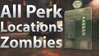 All Perk Locations: Shadows of Evil - Juggernog, Speed Cola, Double Tap Spawns (Black Ops 3 Zombies)