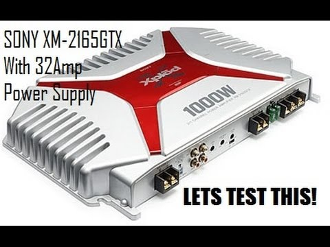 Sony 1 000w Amp Test Amp Project I Youtube