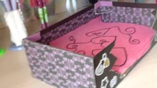 Как сделать кровать для куклы Монстр хай