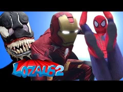 Thumbnail: SPIDERMAN VS VENOM! DEADPOOL calls IRONMAN to help PART 6