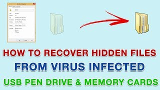 How To Recover Hidden Files from Virus Infected USB Pen Drive & Memory Cards