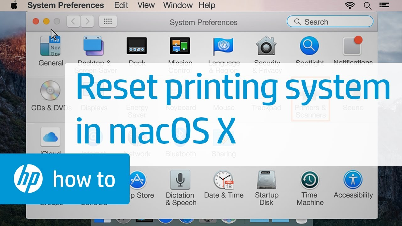 Resetting The Printing System In Mac Os X Youtube