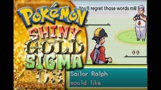 POKEMON SHINY GOLD SIGMA NUZLOCKE EPISODE #03 - THIS GUY SCRAED THE CRAP OUT OF ME!