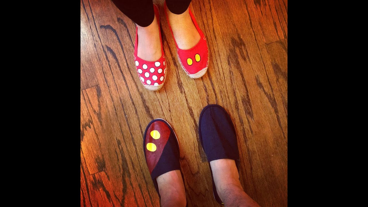 af77d5466a7 How To  DIY Disney Mickey Mouse Inspired Shoes  Toms Tutorial (Family Disney  Coordinated Outfits)