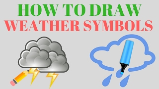 how to draw weather symbols| Easy how to draw weather symbols For Kids