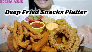 ASMR 咀嚼音✨Deep Fried Snacks Platter 揚げ物の詰め合わせ 綜合炸物拼盤 모듬튀김 먹방 Assortiment de fritures *EATING SOUND*