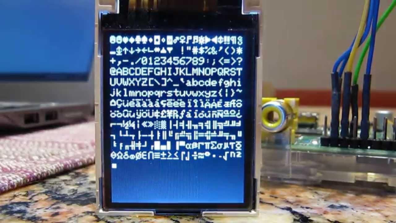 ST7735 with Raspberry Pi