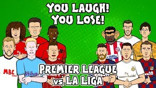 EPL vs La Liga - You laugh, you lose ft. Pogba, Griezmann, Hazard & Messi!