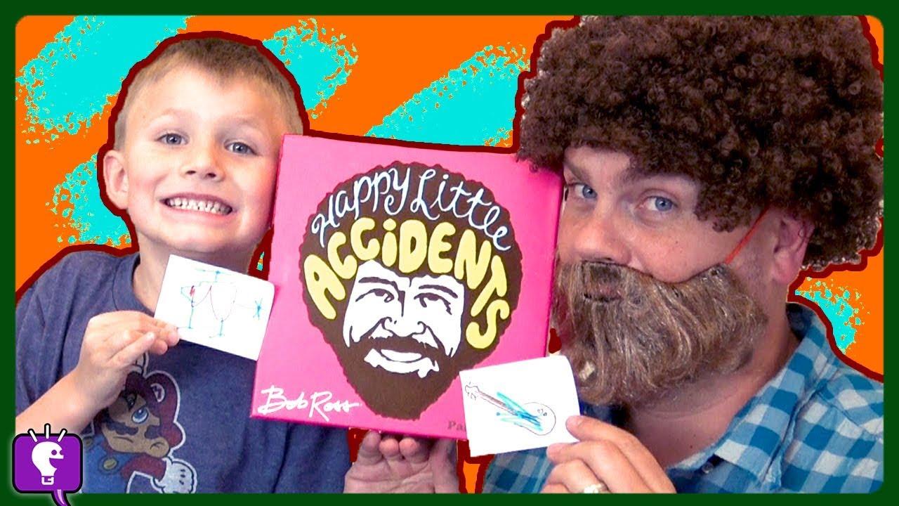 BOB ROSS ART COMPETITION! Family Game Time with HobbyKidsTV