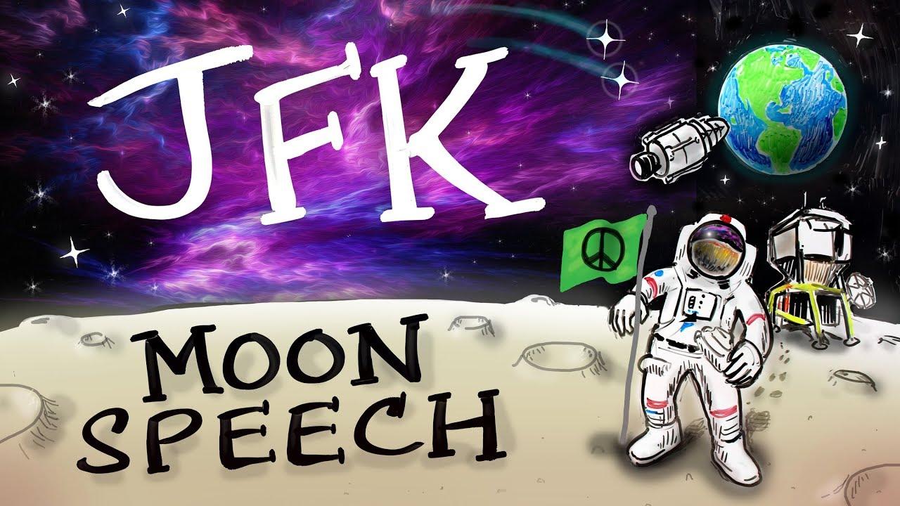 Moon Speech  - John F. Kennedy (Animated)
