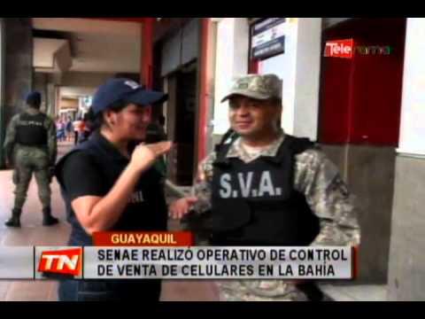 SENAE realizó operativo de control de venta de celulares en la Bahía