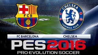 PES 2016 Officially Licensed Gameplay - Chelsea vs Barcelona Exhibition [In-Game Commentary]