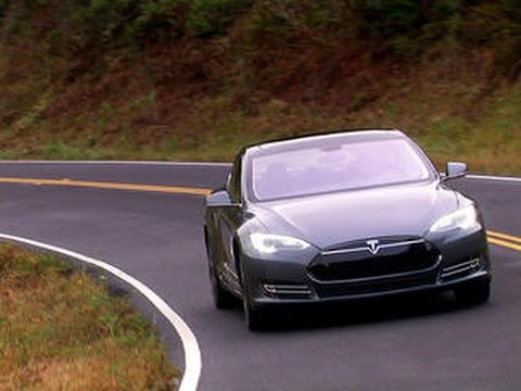 On the road Tesla Model S P85