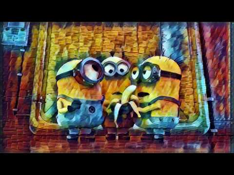 TensorFlow Style Transfer in Video:Minions fight for banana
