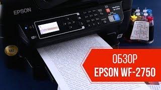 Обзор бесчипового МФУ Epson WF-2750 с СНПЧ